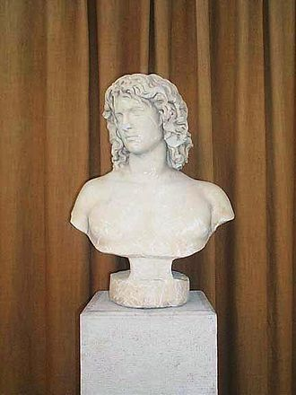 Olganos - Bust of Olganos, on display at the Archaeological Museum, Veria.