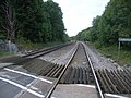 On level crossing looking away from Cardiff - geograph.org.uk - 563028.jpg