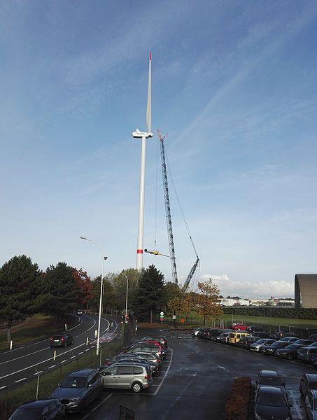 Opbouw windmolen te ArcelorMittal Gent