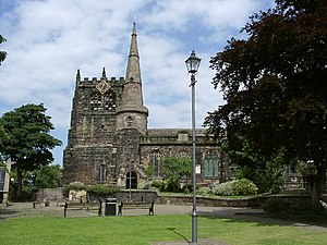 Church of St Peter and St Paul, Ormskirk - Image: Ormskirk Parish Church geograph.org.uk 12855