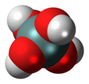 Spacefill model of orthosilicic acid