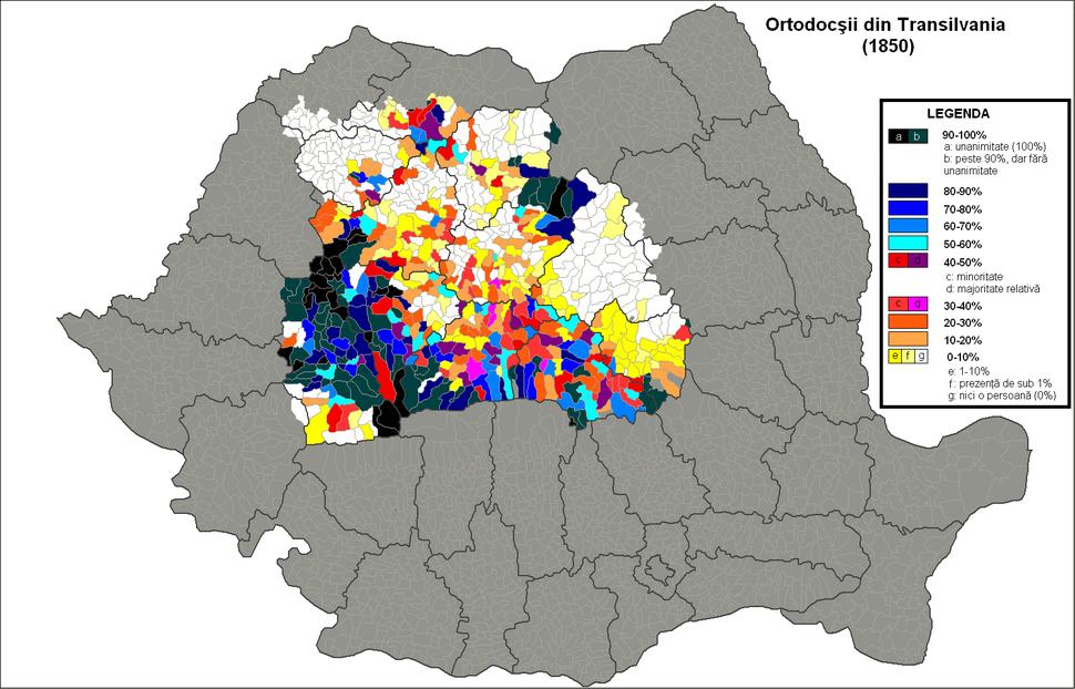 Ortodocsi Transilvania 1850