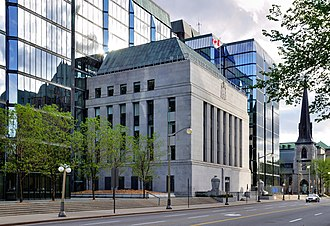 Moral suasion - Headquarters of the Bank of Canada, a central bank. Central banks often use impure moral suasion to control the credit supply.