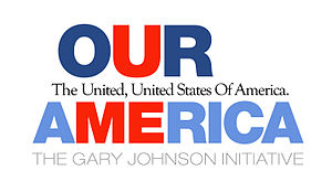 English: Logo for the Our America Initiative