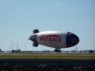 Outback Steakhouse - One of the two Outback blimps