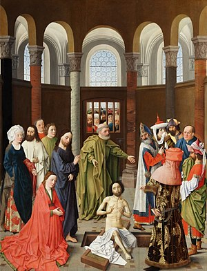 Albert van Ouwater - The Raising of Lazarus, Gemäldegalerie, Berlin, 1445
