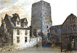 Oxford Castle - St George's Tower in 1832