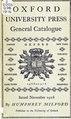 Oxford university press. General catalogue, November, 1916 (IA cu31924029562646).pdf