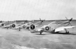 383d Fighter Squadron - P-51s of the 383d Fighter Squadron at RAF Honington, England, 1944.