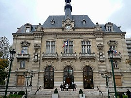 The town hall of Colombes