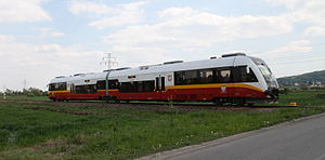 Przewozy Regionalne - An SA133 unit as the Balice Ekspres train to Kraków International Airport