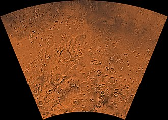 Eridania quadrangle - Image of the Eridania Quadrangle (MC-29). The region mainly includes heavily cratered highlands. The west-central part includes Kepler Crater.