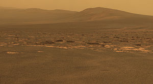"Endeavour (crater) - Western rim by ""Oppy"" (MER-B)"