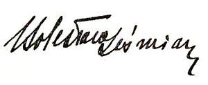Bolesław Leśmian - Image: PL Bolesław Leśmian Dziejba leśna podpis