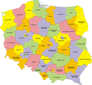 NUTS statistical regions of Poland - Former NUTS 3 divisions in Poland (from January 1, 2003 to December 31, 2007)