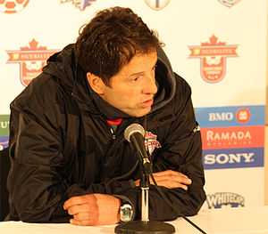 Preki - Preki in a press conference as head coach of Toronto FC, 2010