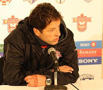 Preki - Preki in a press conference as head coach of Toronto FC, 2010