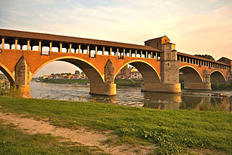 Pavese (territory) - The Covered Bridge of Pavia on the Ticino River
