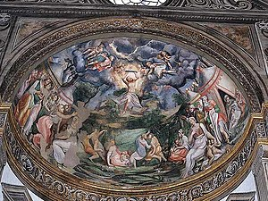 Pomponio Allegri - Moses on Mount Sinai, fresco at the Cathedral of Parma, 1560-1562