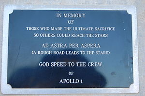 Cape Canaveral Air Force Station Launch Complex 34 - Small plaque on side of the right rear column