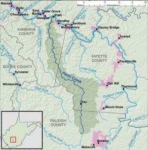 Paint Creek West Virginia Wikipedia - Wv road map