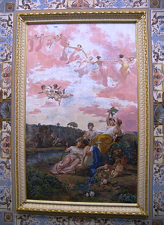 Achilleion (Corfu) - Image: Painting at the entrance ceiling of Corfu Achilleion autocorrected