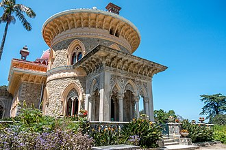 Portuguese Riviera - Monserrate Palace in Sintra, noted for its beauty in Lord Byron's Childe Harold's Pilgrimage during his grand tour through the Portuguese Riviera.