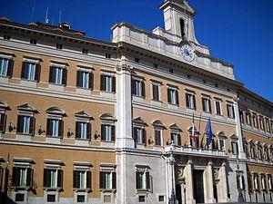Palazzo Montecitorio - Image: Palazzo Parlamento