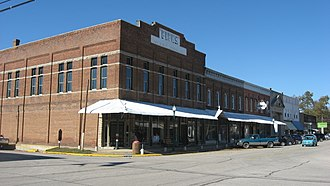 National Register of Historic Places listings in Crawford County, Illinois - Image: Palestine Commercial Historic District