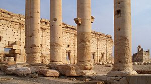 English: Columns in Palmyra, Syria, 2009.