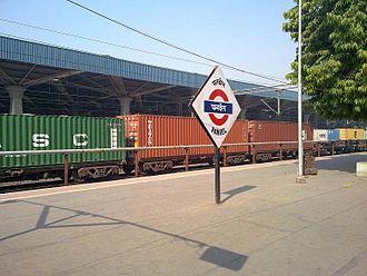 Panvel railway station - Cargo trains from Panvel to Karjat