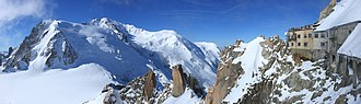 Mont Blanc - Mont Blanc seen from the Rébuffat platform on Aiguille du Midi