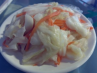 <i>Pao cai</i> A type of pickle in Chinese, and particularly Sichuan cuisine