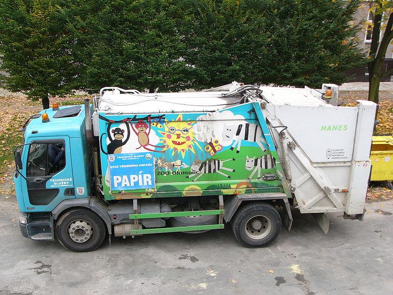 File:Paper recycling car in Olomouc.jpg