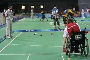 Boccia at the 2008 Summer Paralympics - Norway's John Nørsterud at the Boccia events
