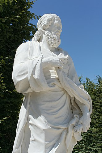 Education in ancient Greece - Isocrates sculpture located at the Parc de Versailles