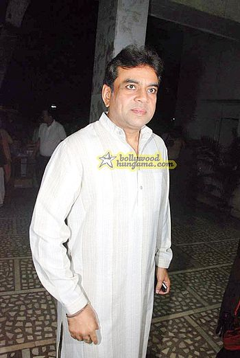 Paresh Rawal at Manoj Joshi's play Chanakya