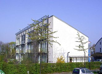 Passive house - A building based on the passive house concept in Darmstadt, Germany.