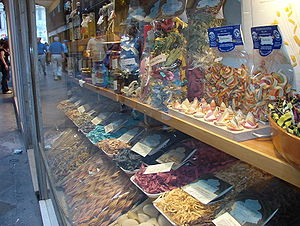 Pasta in the window of a pasta speciality stor...