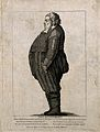 Paul Butterbrodt, a man weighing 476 pounds. Engraving. Wellcome V0007020.jpg