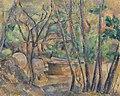 Paul Cézanne - Millstone and Cistern under Trees (La Meule et citerne en sous-bois) - BF165 - Barnes Foundation.jpg