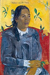 Paul Gauguin: Tahitian Woman with a Flower