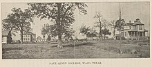 Printed photo of Paul Quinn College circa 1898