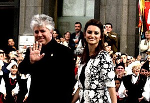 Film director - Director Pedro Almodóvar and actress Penélope Cruz