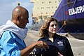 Penny Mordaunt visits a port in Djibouti from where UK aid is shipped to Yemen (39547490792).jpg