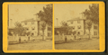 People in front of a large house with fence, from Robert N. Dennis collection of stereoscopic views.png
