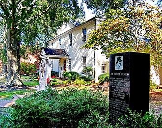"Perquimans County, North Carolina - Image: Perquimans County Courthouse and the Jim ""Catfish"" Hunter Memorial Hertford, North Carolina"