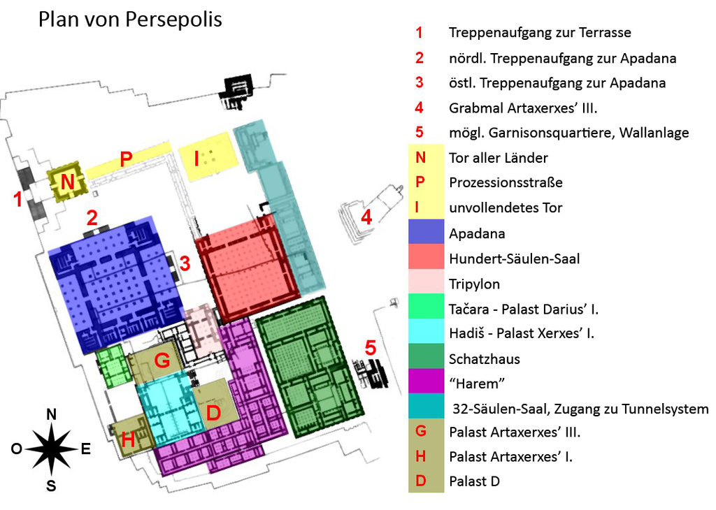 File Persepolis Complex Map Deutsch Png Wikimedia Commons