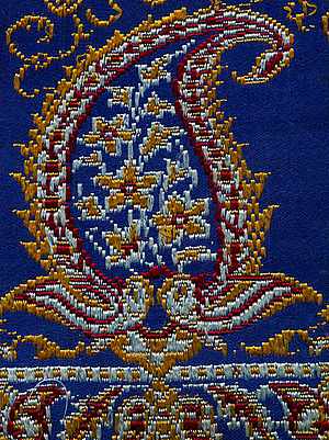 Paisley (design) - Persian silk brocade from the Pahlavi Dynasty.