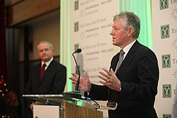 Speaking at Titanic Belfast, 2012 (Image: Titanic Belfast)